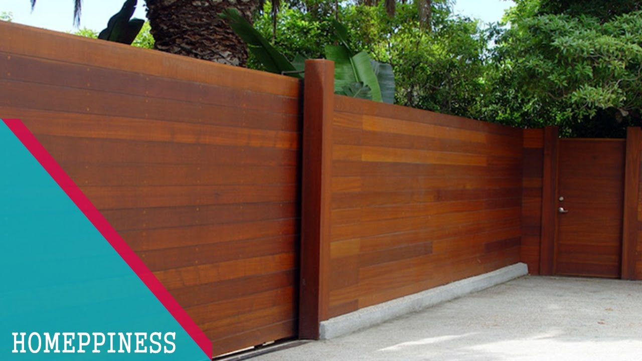 (NEW DESIGN 2017) 20+ Modern Wood Fence Ideas - YouTube