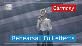 Levina - Perfect Life - Germany - Second Rehearsal: Full Effects - Eurovision 2017 (4K)