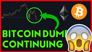 CONTINUATION OF BITCOIN & ETHEREUM DUMP, WATCH THIS LEVEL!