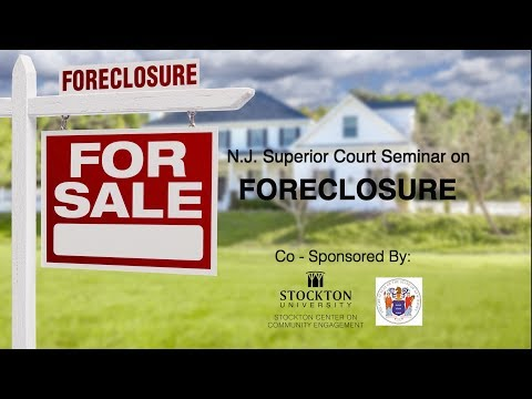 N J  Superior Court Seminar On Foreclosure
