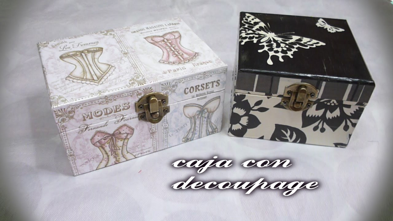 Cajitas Decoradas Diy- Caja Con Decoupage - Youtube
