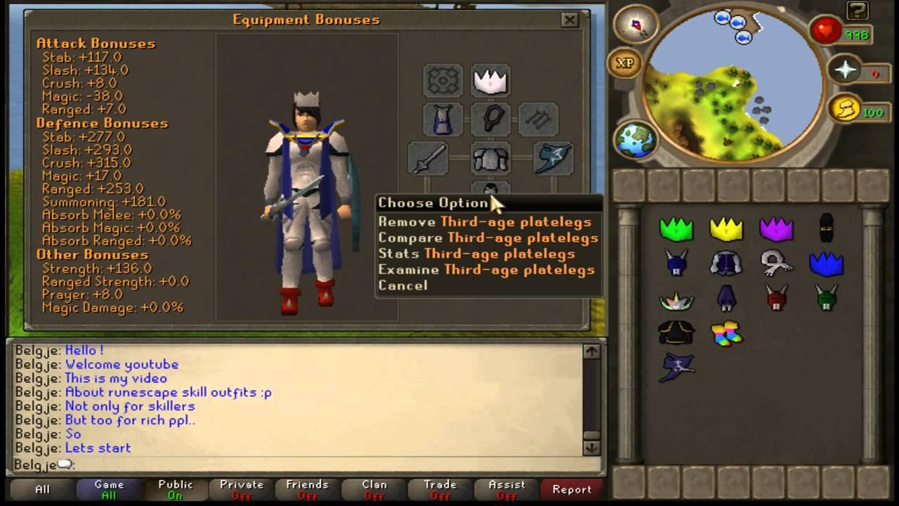 Runescape 3 item slots