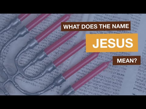 What does Jesus name mean? (Luke 2:21)