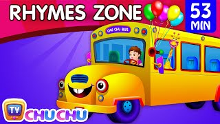 Wheels On The Bus | Popular Nursery Rhymes Collection for Children | ChuChu TV Rhymes Zone thumbnail