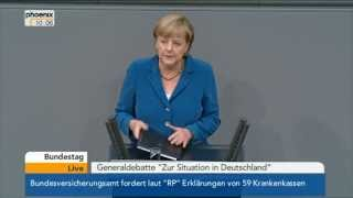 "Generaldebatte ""Zur Situation in Deutschland"": Angela Merkel (CDU) am 03.09.2013"