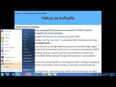 Kenya - Obtain my NSSF Statement