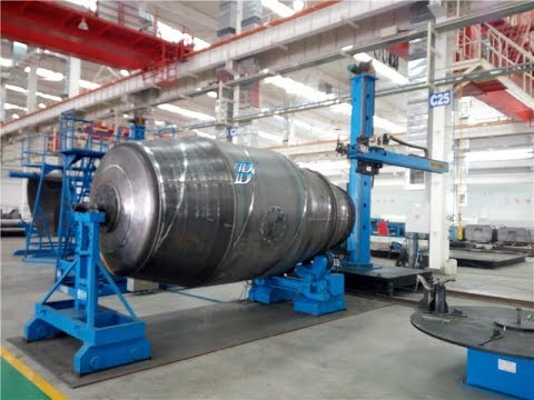 Welding and cutting machines for Concrete Mixer Tanker production