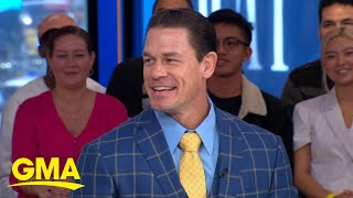 John Cena of 'Playing with Fire' shows off his dance moves l GMA