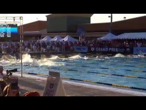 Mesa Grand Prix Men's 100 Fly (Michael Phelps' first race back)