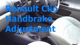 Renault Clio Handbrake / Parking Brake Adjustment
