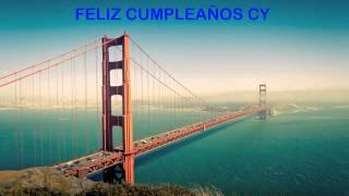 Cy   Landmarks & Lugares Famosos - Happy Birthday