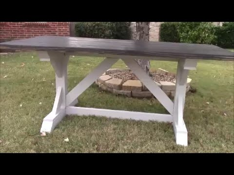 Etonnant DIY Farmhouse Harvest Table Part 1
