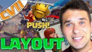 LAYOUT CV11 PUSH E GUERRA TH 11 WAR BASE AND PUSH CLASH O CLANS