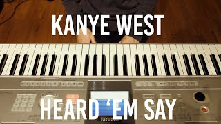 Video Kanye West - Heard 'Em Say Piano Cover download MP3, 3GP, MP4, WEBM, AVI, FLV Oktober 2018