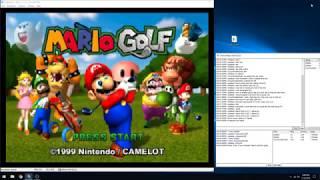Mario Golf. Justase Vs. Robbie Vs. Cory, TWO ACES!!! (N64 kaillera netplay)