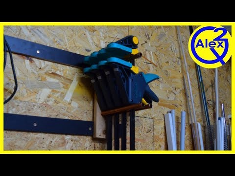 How to Make a Simple Clamp Rack from Reclaimed Materials