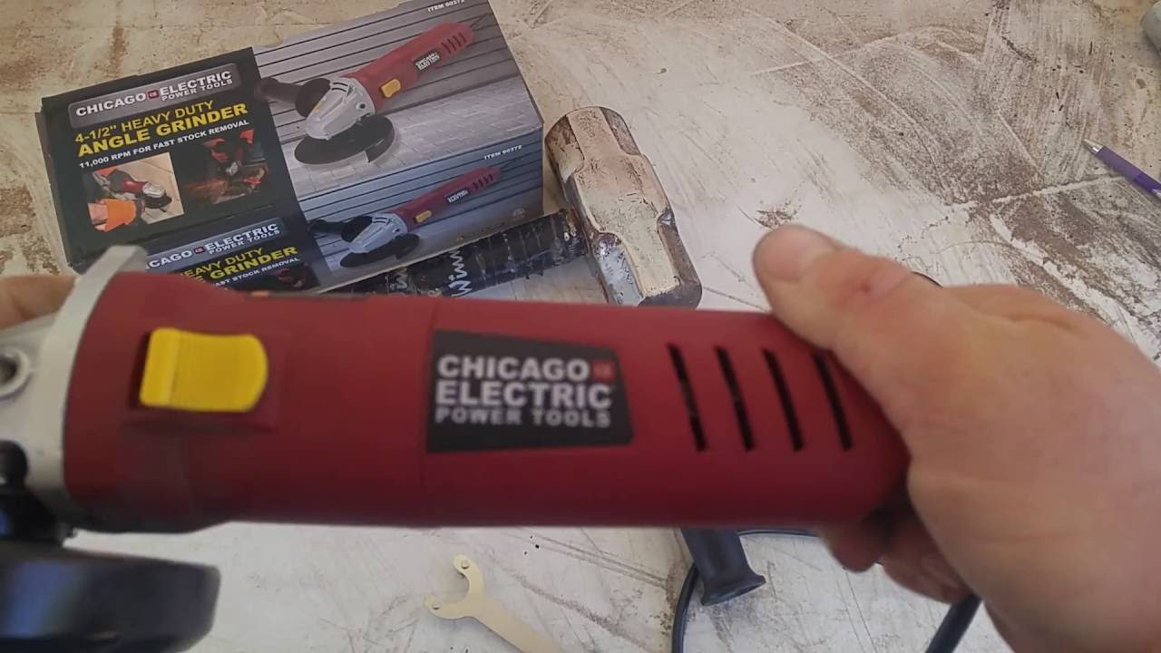 Harbor Freight Chicago Electric Angle Grinder Youtube