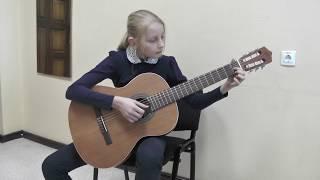 Карина Алина 11 лет. 3 год обучения Ф. Карулли - Рондо