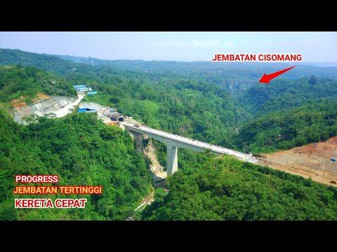 Progress Jembatan Tertinggi Dan Terowongan Terpanjang Dari Proyek KERETA CEPAT Jakarta Bandung