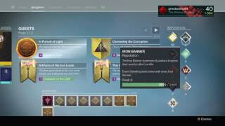 destiny rise of iron how to reach iron banner rank 5 fast