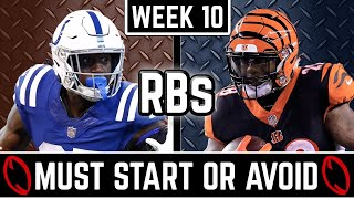 Week 10 Running Back Start or Sit - 2019 Fantasy Football Advice