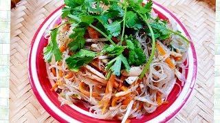 Miến xào Nấm     Món chay 05-  món ăn ngon tốt cho sức khỏe   Thanh Tâm Food