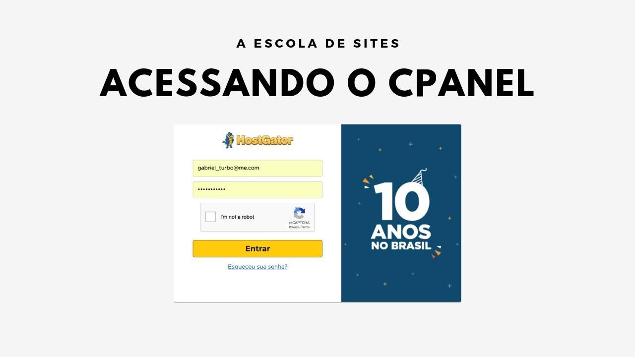 2 FORMAS DE ACESSAR O PAINEL DE CONTROLE (CPANEL) DO HOSTGATOR