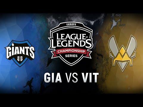GIA vs. VIT - Week 1 Day 2 | EU LCS Summer Split | Giants Gaming vs. Team Vitality (2018)