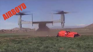 CAL FIRE MV-22 Osprey Bambi Bucket Demonstration