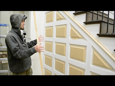 awesome wainscot accent wall youtube