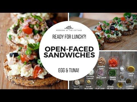 Open-Faced Sandwiches | Tuna & Egg Combo!!!