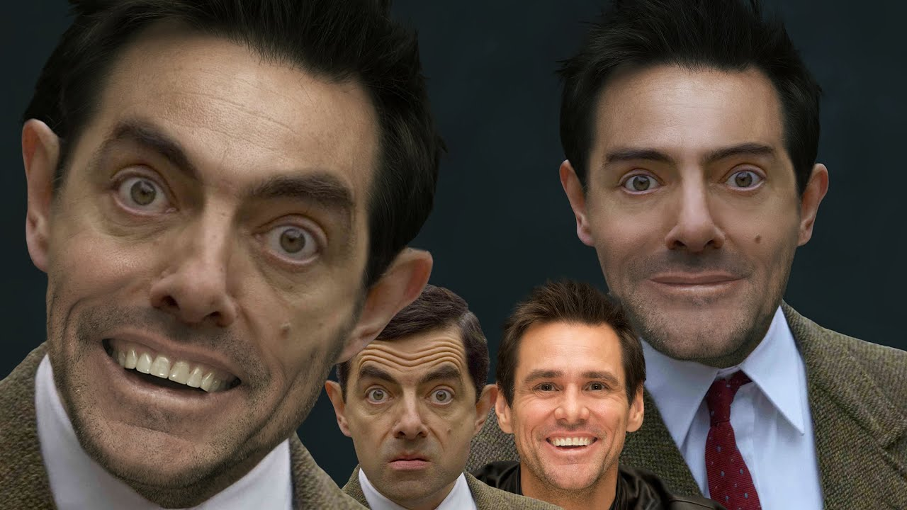 Merging Mr Bean and Jim Carrey - Photoshop Extreme Makeover - YouTube Jim Carrey