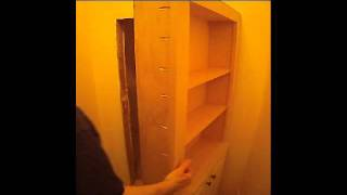 Bookcase Hidden Door Plans (outswing) By Master Cabinet Maker.wmv