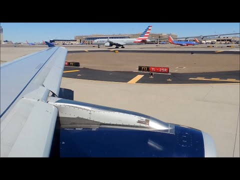 US Airways (American) Airbus A321-231 [N573UW] push back, taxi, and takeoff from PHX
