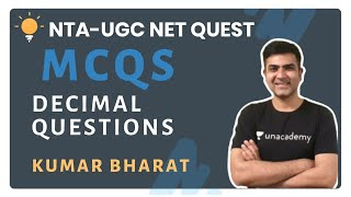 Decimal Questions | MCQs | One-Stop Solution to all Your Questions | NTA-UGC NET Quest