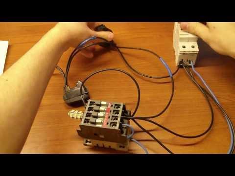 Schema Elettrico Contattore E Salvamotore : Collegamento di un contattore o teleruttore youtube