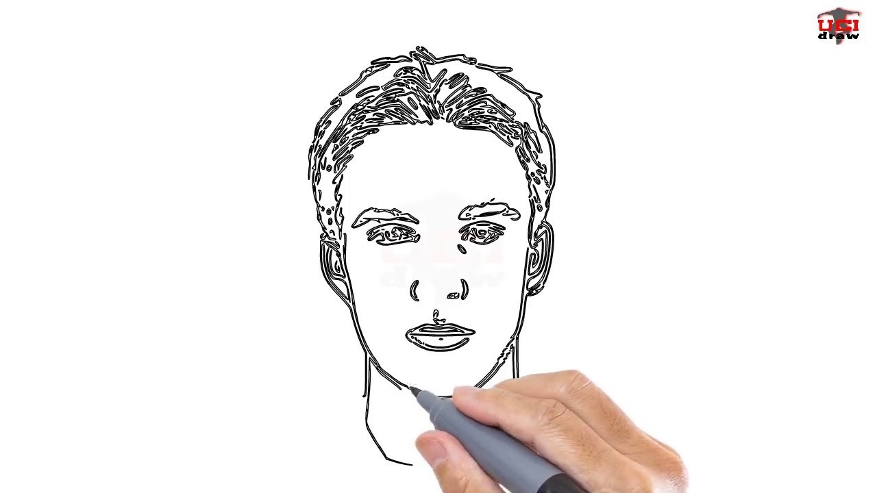 How to draw a man easy step by step drawing tutorials for kids ucidraw