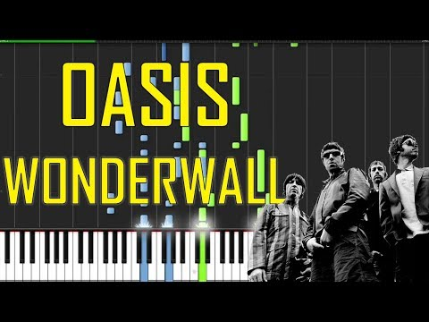 Oasis Wonderwall Piano Tutorial Chords How To Play Cover