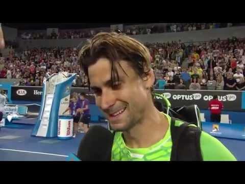 David Ferrer on court interview at Aus 2015 (3R)