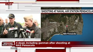 Officials give update on attack at Naval Air Station Pensacola