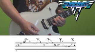 Guitar Lesson - You Really Got Me (Van Halen) solo with tabs