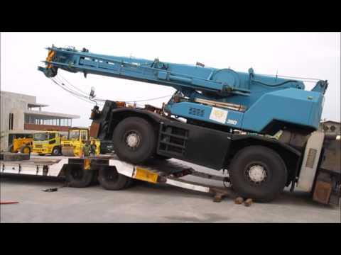Jakarta Auctions - Unloading Rough Terrain Crane