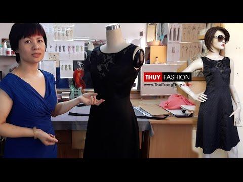Hướng dẫn thiết kế váy xòe thiên chi tiết | Phần 1 | Thời Trang Thủy | Design circular dress