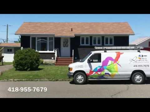 Peinture ext rieure sur maison de brique rimouski entrepreneur peintre en b timent youtube for Peintre en batiment