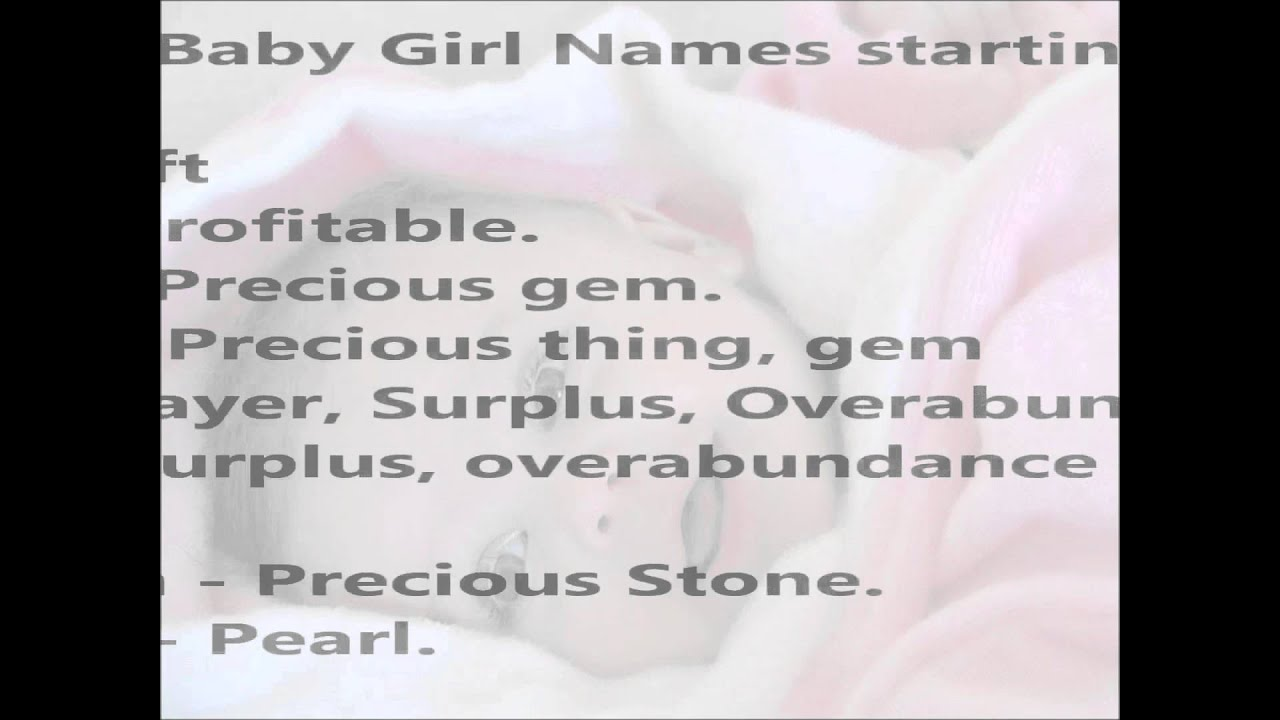 Modern baby girl names starting with g