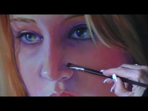 Painting portraits in oil demo by tamara geddes glazing for Portrait painting tutorial
