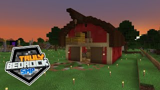 Building Begins! The Red Barn!  - Truly Bedrock - S01 EP06