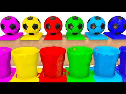Thumbnail: Colors for Kids to Learn w Soccer Balls Surprise Eggs - Superheroes Learning Video for Babies