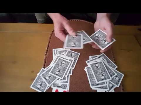 Intuition test. Performance and tutorial. Card Tricks.