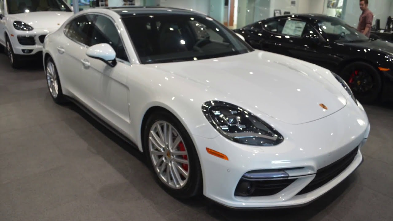 Carspotting All New 2017 Porsche Panamera Turbo In Carrera White Metallic